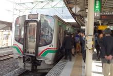 15:33 東照宮駅から仙台駅まで乗りました。