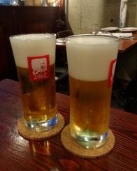 18:40 SAPPORO樽生ビール 550円×2