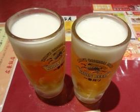 19:57 ビール 550円×2