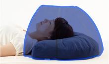ドーム枕を使用したイメージ写真です。
