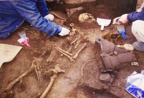 発掘調査の写真