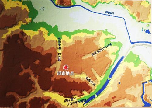 縄文人調査地点の地図