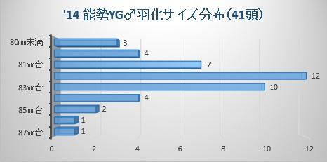 14能勢YG羽化サイズ分布
