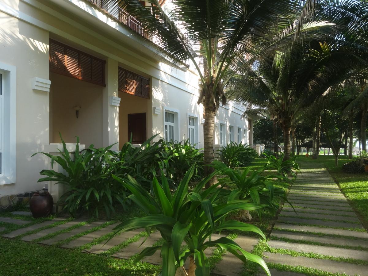 ビンパールホテルの庭