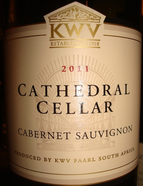 Cathedral Cellar Cabernet Sauvingnon KWV 2011