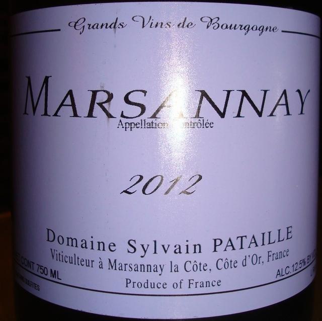 Marsannay Domaine Sylvain Pataille 2012