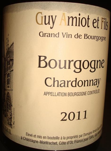 Bourgogne Chardonnay Guy Amiot 2011
