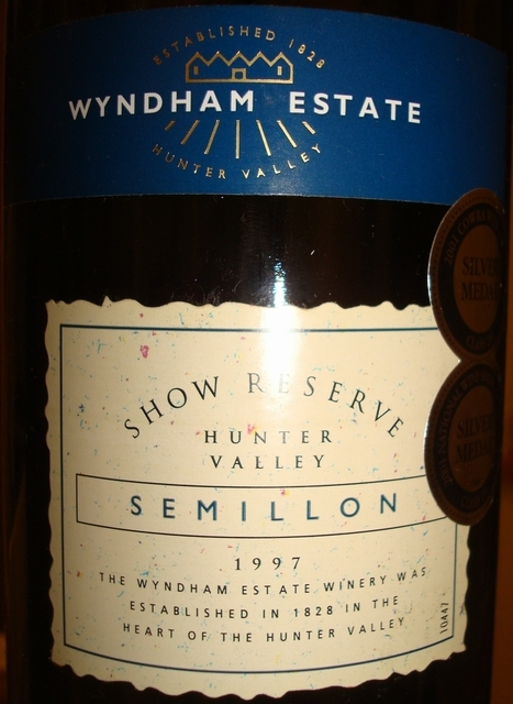 Show Reserve Hunter Valley Semillon Wyndham Estate 1997
