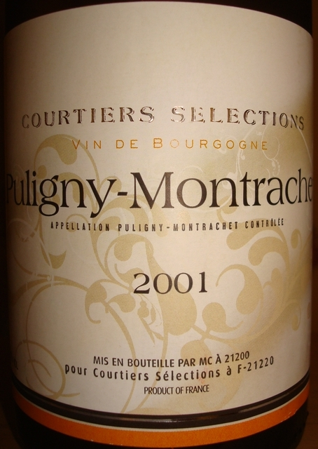Puligny Montrachet Courtiers Selections 2001