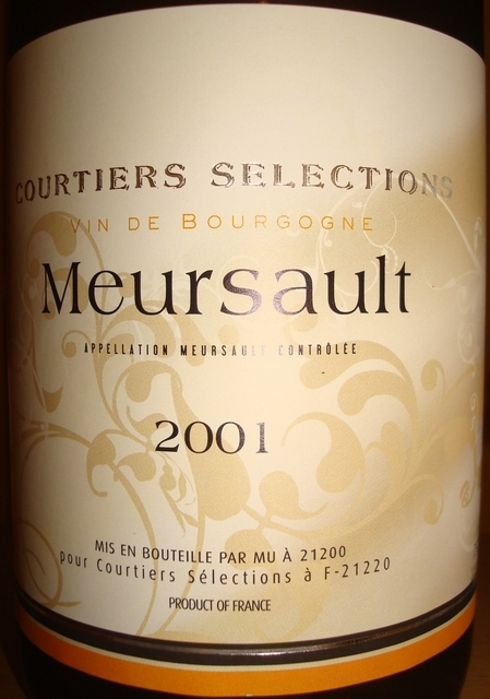 Meursault Courtiers Selections 2001