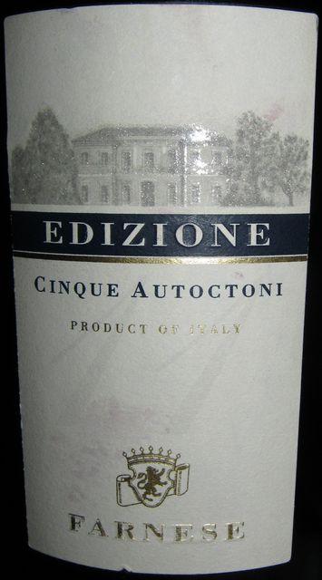 Edizione Cinque Autoctoni Farnese 2011