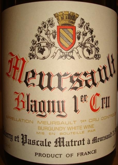 Meursault Blagny 1er Cru Pascale Matrot 2009