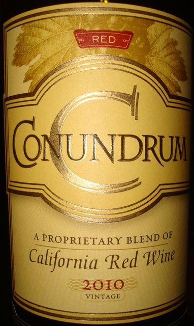 Conundrum a Prorpietary Blend of California Red Wine 2010