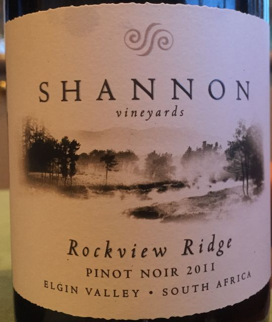 Shannon Vineyards Rockview Ridge Pinot Noir 2011