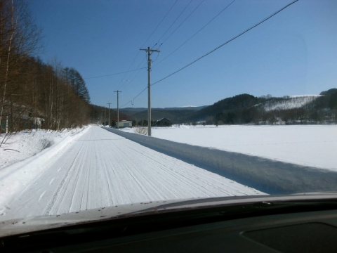 除雪された道0204