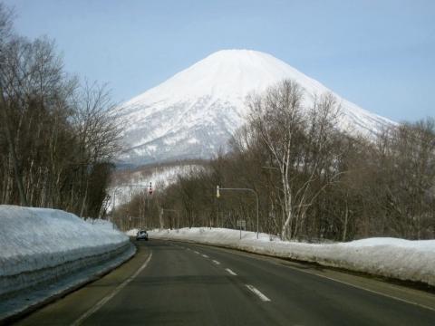 道から羊蹄山0319