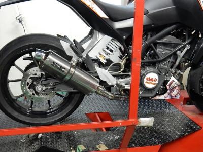 KTM 200DUKE マフラー開発 (6)
