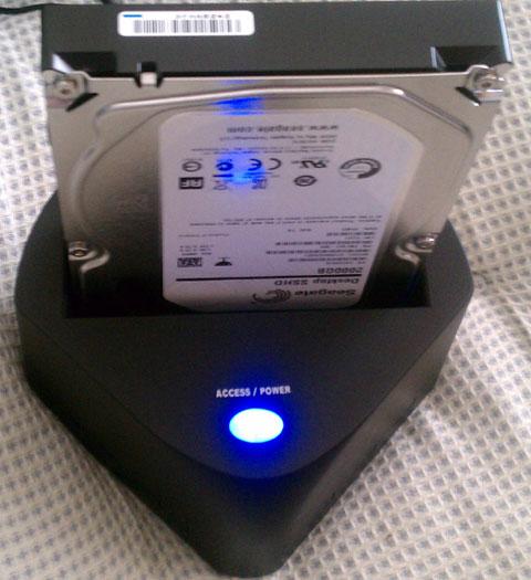 HDDスタンド使用例
