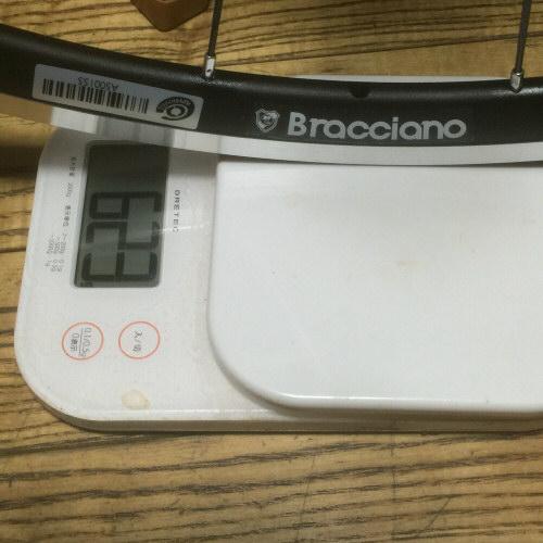 前輪ホイール重量