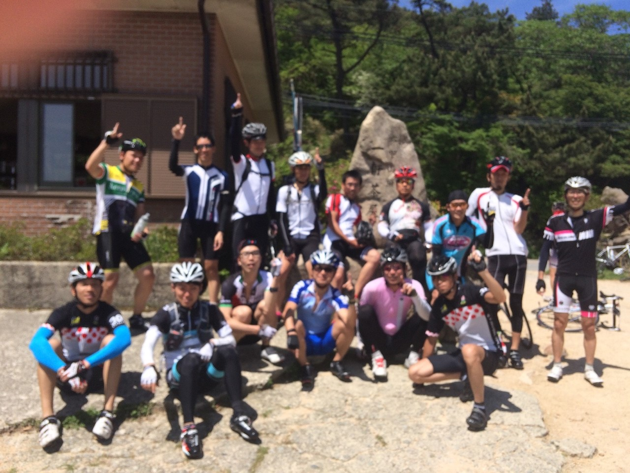 六甲山山頂記念撮影20150517