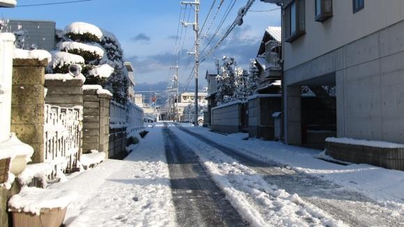 雪の朝 in 津山