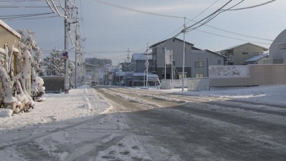 雪の朝 in 津山(2)