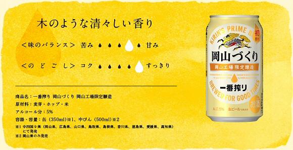 キリンビール一番搾り 岡山づくり公式サイト