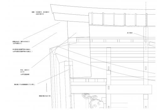 箱棟側面図