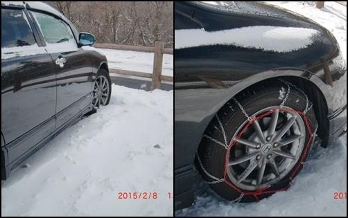024 雪と車
