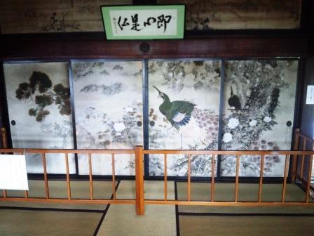 西福寺開山堂150615襖絵