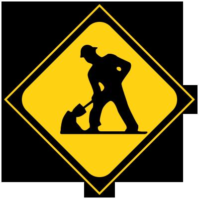 道路標識 工事中(小)