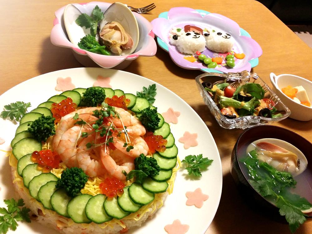 ひなまつりチラシ寿司