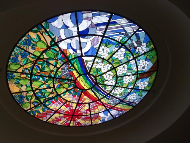 ラ・フランス館のステンドガラス
