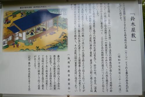 鈴木屋敷 案内板