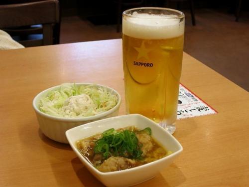生ビール&おつまみ