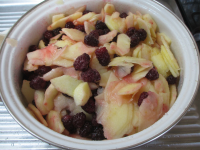 ブラックベリーとリンゴのジャム