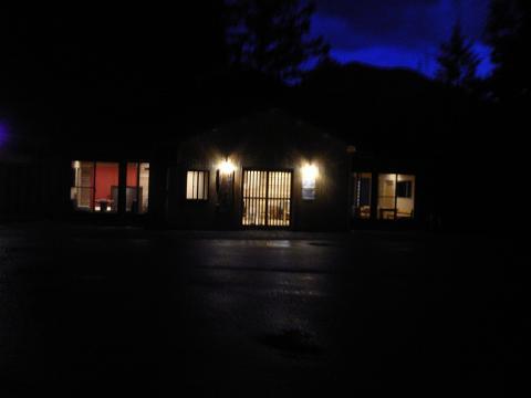 信州高山子安温泉夜景