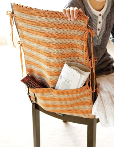 444毛糸ピエロコットンニィート椅子カバーポケット部分