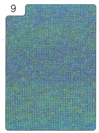 レヴリー編み地青