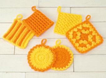 513ボニーはじめてのかぎ針編みタワシオレンジアップ