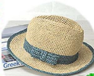 540エコアンダリヤサイドリボンの中折れ帽アップ