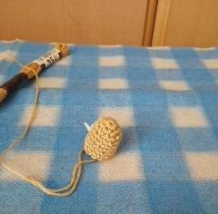 25続けて腕を編む腕も編んでみる
