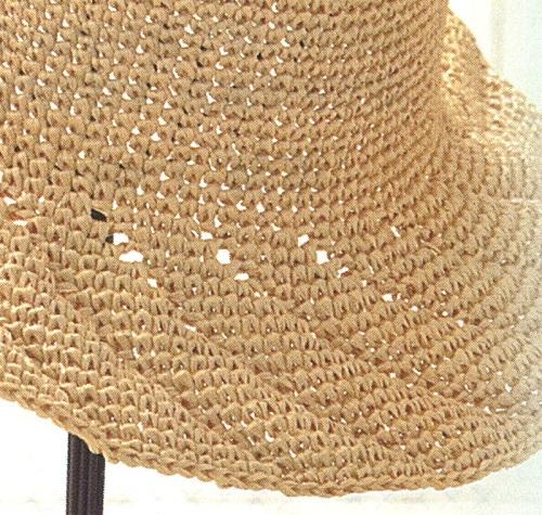 582エコアンダリヤ透かしラインの帽子部分