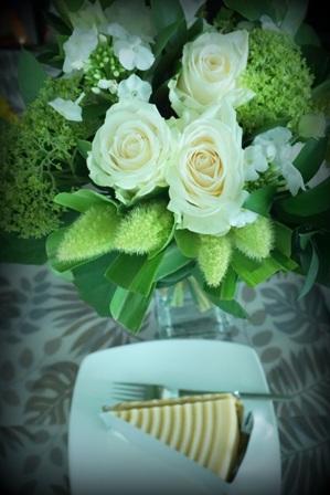 お花とケーキ