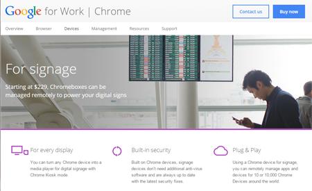 Chromeboxを使うサイネージo2oサービス
