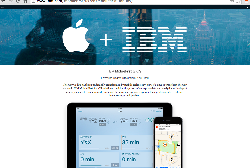 米IBM MobileFirst for iOSについて
