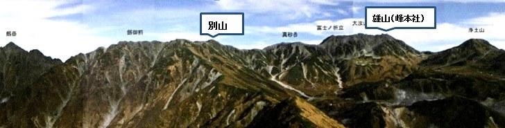 立山連峰(雄山と別山)