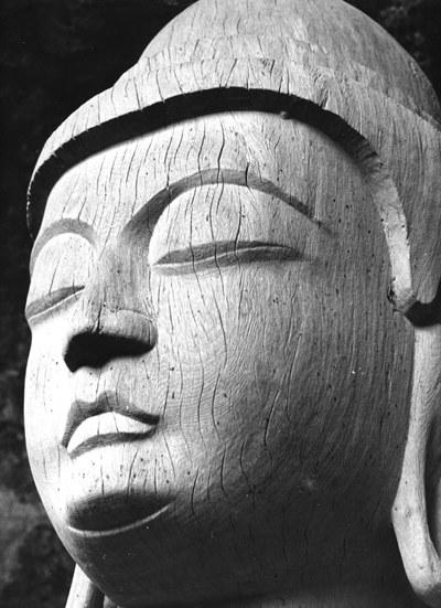 昭和47年(1972)当時撮影の龍岩寺阿弥陀如来像
