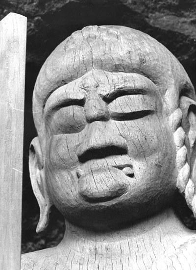 昭和47年(1972)当時撮影の龍岩寺不動明王像