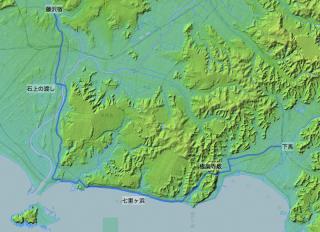 江島道見取絵図のルート(修正後)